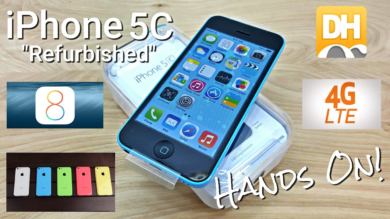 iPhone 5C - Hands On - $188 - Unlocked - 4G LTE - Chinese Refurbished - Dhgate.com - YouTube