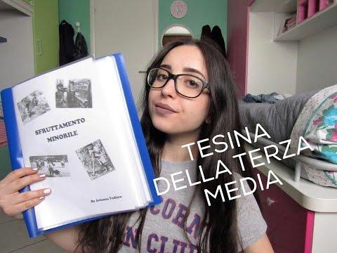 LA MIA TESINA DI TERZA MEDIA: i miei consigli!