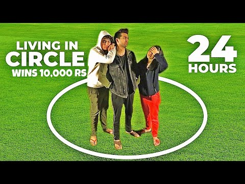 LIVING IN CIRCLE FOR 24 HOURS | Rimorav Vlogs
