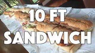 10 ft Subway Sandwich Challenge