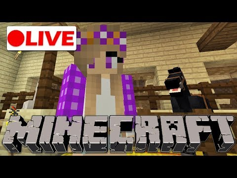 🔴  Building a Baby Horse Nursery! | Minecraft Live Stream