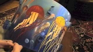 Custom painted Jellyfish Bass Drum (speed paint/ time lapse)