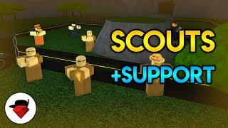 BG Scout Co-Op... With Support | Tower Battles [ROBLOX] ft. Senpai and Phaser