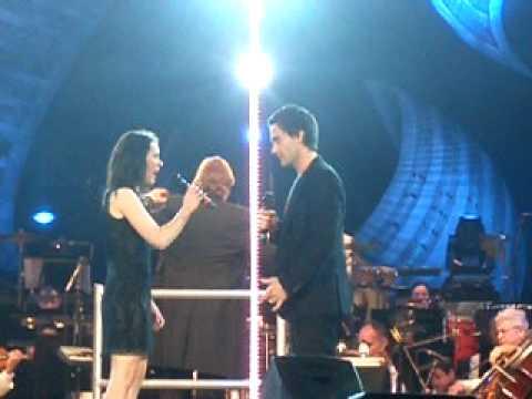 Ramin Karimloo and Gina Beck singing Phantom of th...