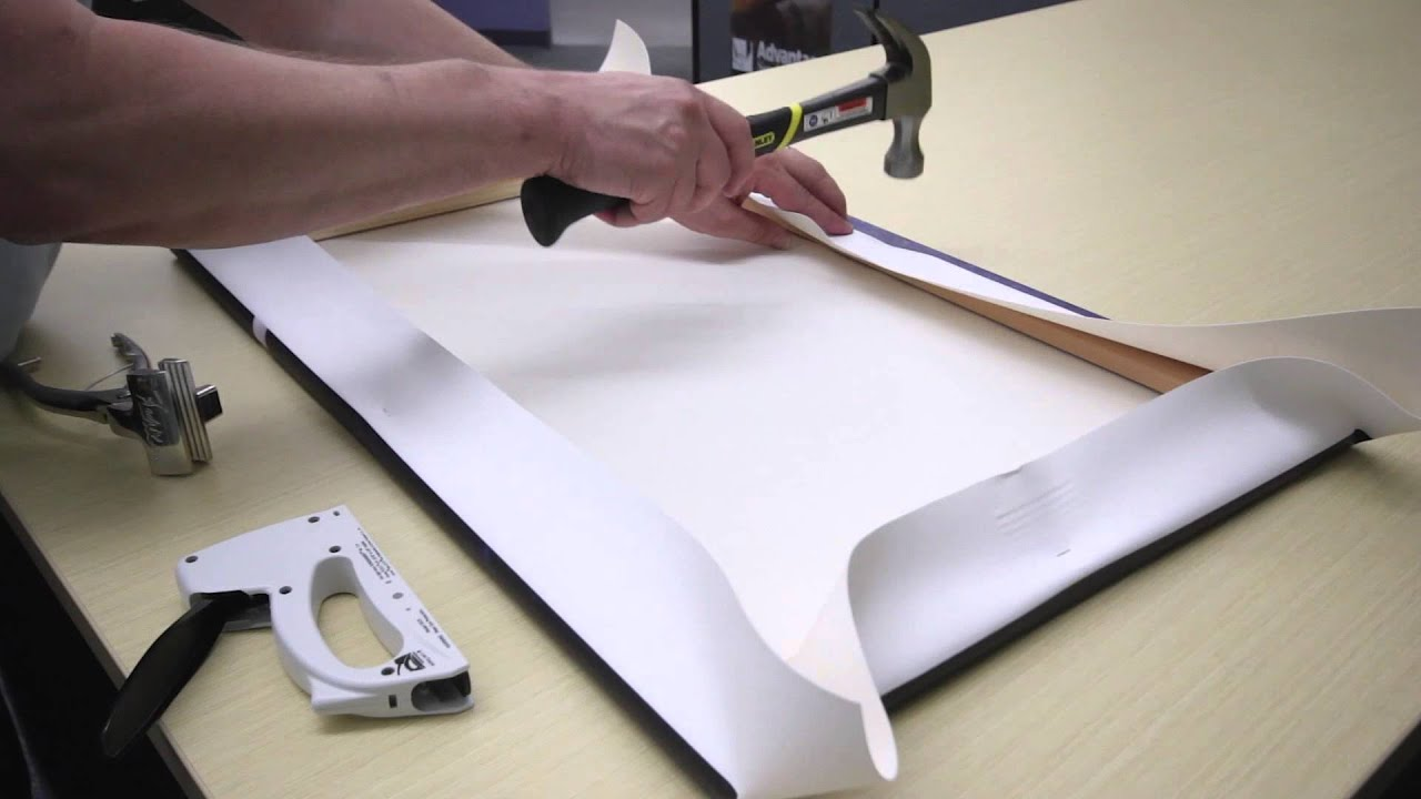 How To Stretch Canvas Over A Frame - YouTube
