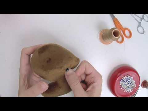 How to make plush: Sewing bead eyes