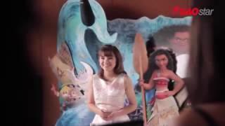 """[ĐỘC QUYỀN] Minh Như """"hóa thân"""" MOANA trong buổi ghi hình tại Singapore"""