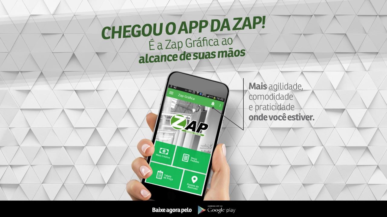 fc23d4edad2 Chegou o aplicativo Zap Gráfica! - YouTube