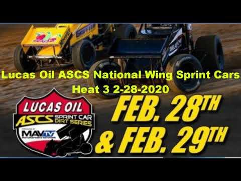 ASCs wing sprints heat 3 canyon speedway park 2-28-2020