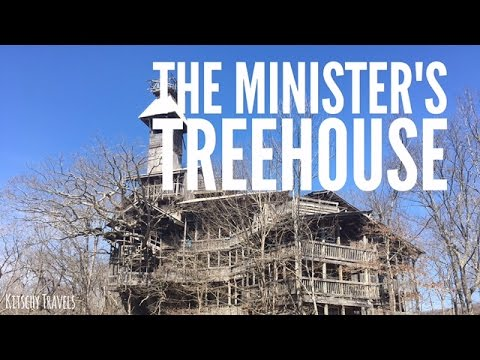 """Exploring Inside The Abandoned """"Minister's Treehouse"""" in Crossville, Tennessee"""