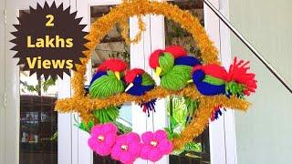 DIY Bird wall decor/best reuse idea/ lovebird making/Best out of waste