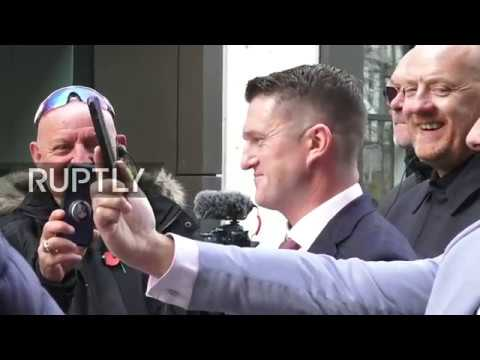 LIVE: Tommy Robinson leaves court as his case has been referred to the Attorney General