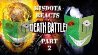 Kisdota Reacts to Death Battle GhostRider vs Lobo (Part 2 check description)
