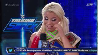 Alexa Bliss Crying [Talking Smack 12/04/2016]