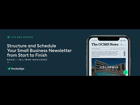 How To Structure And Schedule A Small Business Email Newsletter