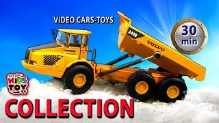 Video collection - 30 minutes. Construction machines - toys.