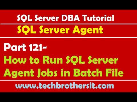 Sql server dba tutorial 121-how to run sql server agent jobs in.