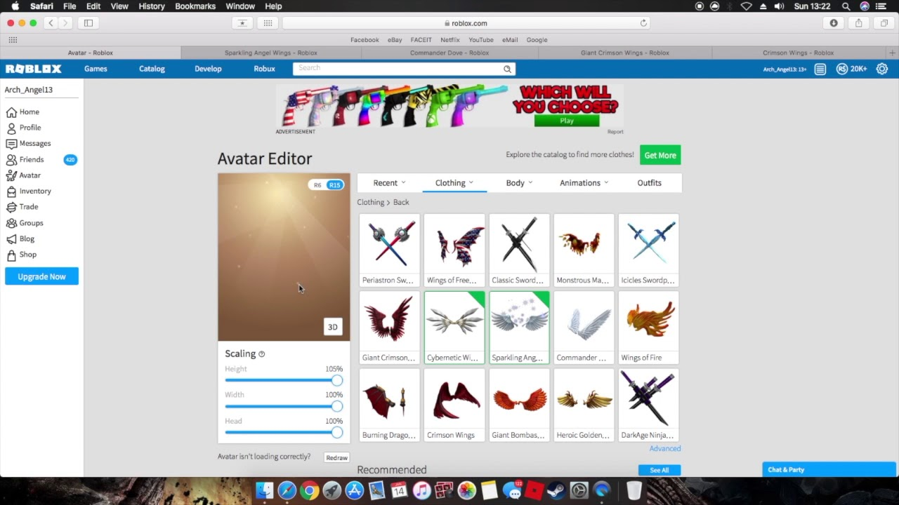 Roblox How To Equip Multiple Accessories Wings Hats Etc