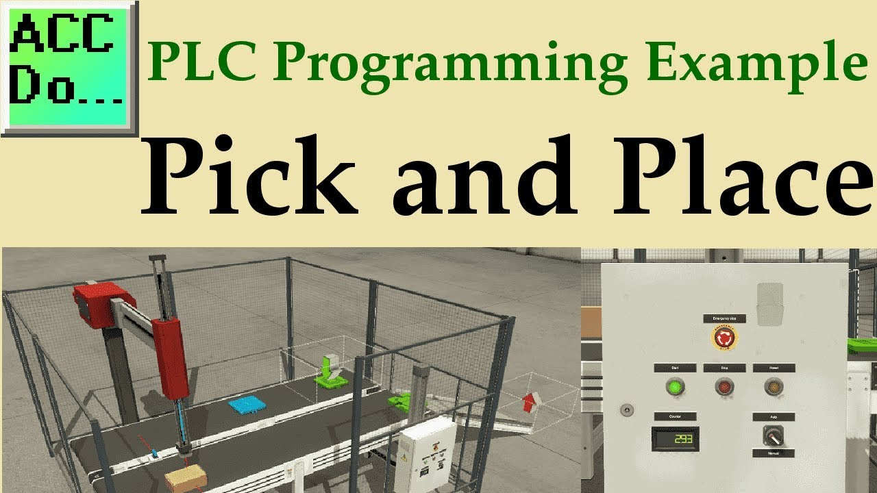plc programming example pick and place youtube