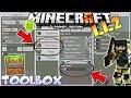 MINECRAFT PE 1.4 TOOLBOX MOD REVIEW - MCPE 1.4 TOOL BOX ADDON/ TOOMANY ITEMS