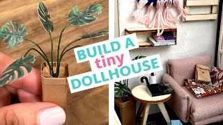 Mini Crafts Challenge Part 2: Building A Tiny Dollhouse