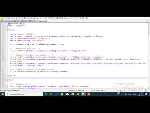 Convert html template(Clean Blog) to php website - (Hindi Tutorial) thumbnail