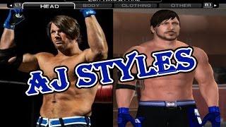 Comment créer AJ Styles dans SvR 2011 PS2