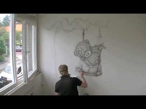 rbrush muurschildering me to you beertje youtube