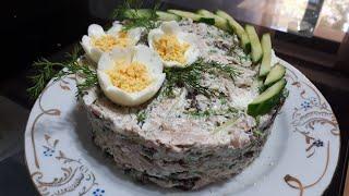 Салат из курицы с орехами и черносливом. Chicken SALAD with nuts and prunes