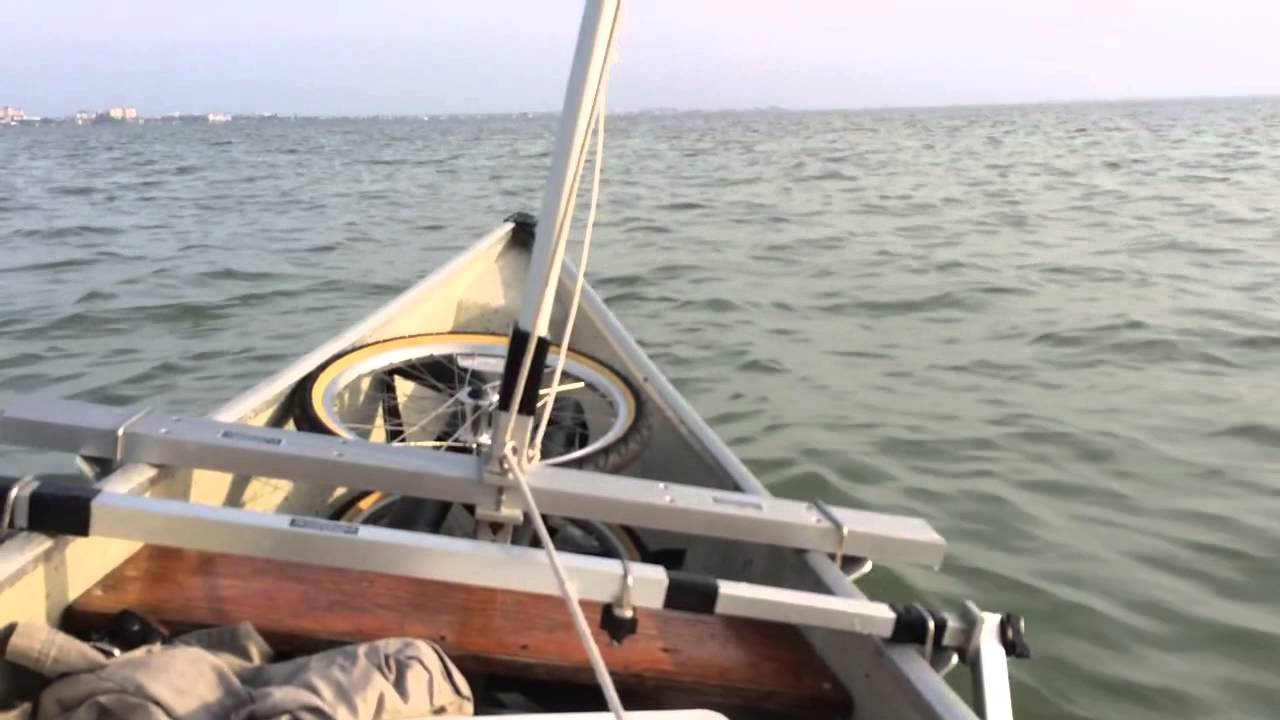 Canoe sailing on the Banana River Lagoon
