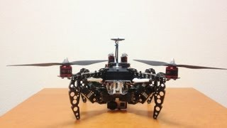Transformable Quadcopter Robot with GoPro HERO3 black edition