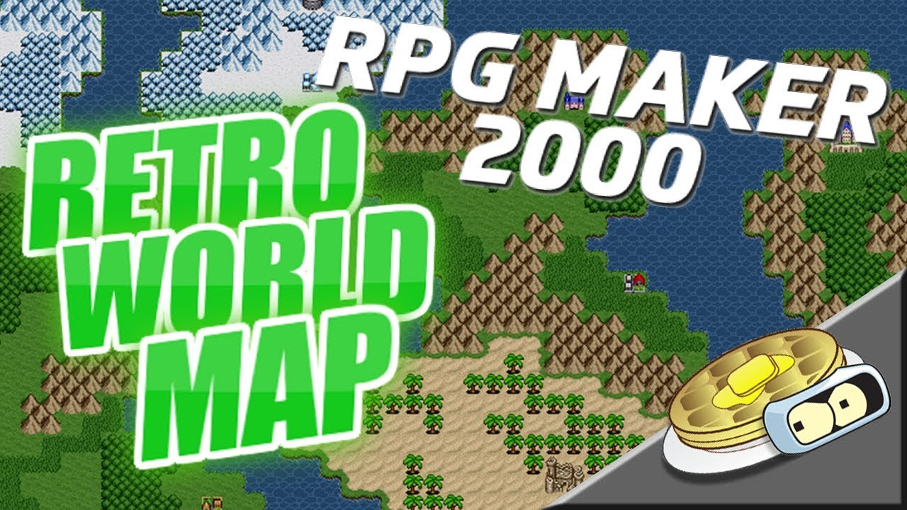 Retro World Map Speed Development | RPG Maker 2000 MAP CREATION ...