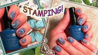 Стемпинг на Гель Лак CND Shellac с пластиной CICI@SISI 03 (Stamping nail art +Shellac CND).(, 2016-07-04T06:30:00.000Z)