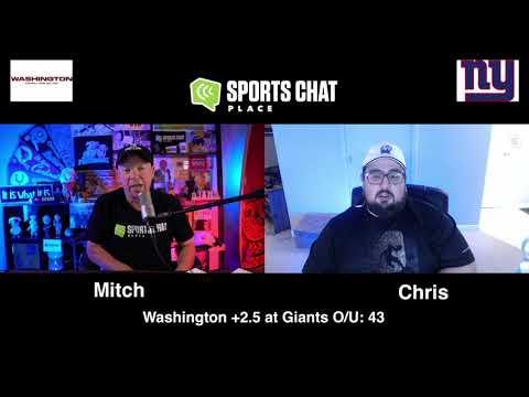 Washington Football Team at New York Giants Sunday 10/18/20 NFL Picks & Predictions Week 6