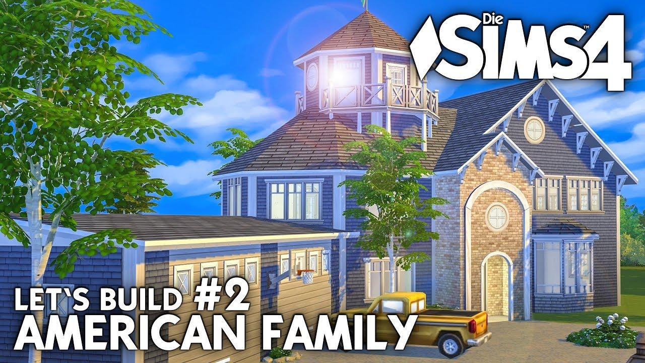 die sims 4 haus bauen american family 2 grundriss deutsch youtube. Black Bedroom Furniture Sets. Home Design Ideas
