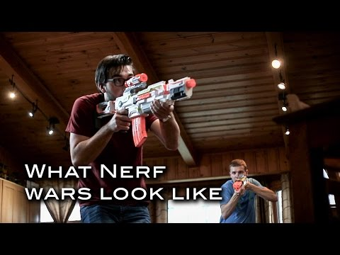 What a Nerf War really looks like!