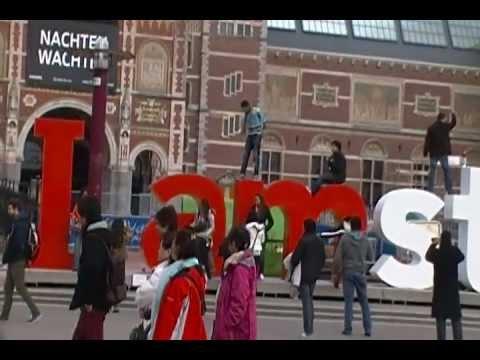 I AMsterdam: Van Gough, Rijksmuseum, Netherlands Sky