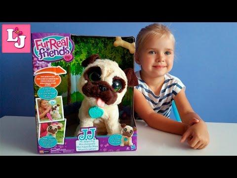 Интерактивный игривый щенок FurReal Friends от Hasbro Распаковка Детский канал LeraJuega