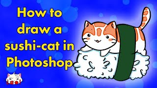 How to Draw Sushi Cat in Photoshop