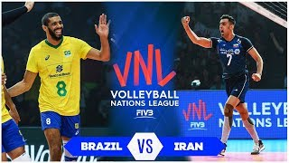 Brazil vs Iran | Highlights | Final Round Men's VNL 2019 (HD)