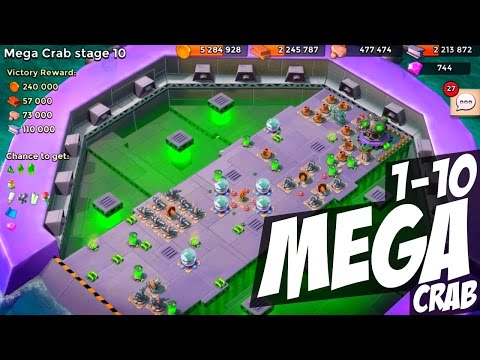 "Boom Beach Mega Crab Stages 1-10 ""Infinite Mega Crab Stages!?"""
