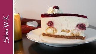 Torte ohne Backen - Windbeuteltorte mit Sauerkirschen