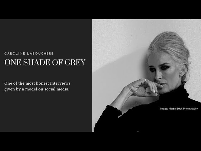 Grey hair journey of a supermodel  | Caroline Labouchere