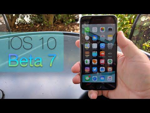 iOS 10 beta 7 - What