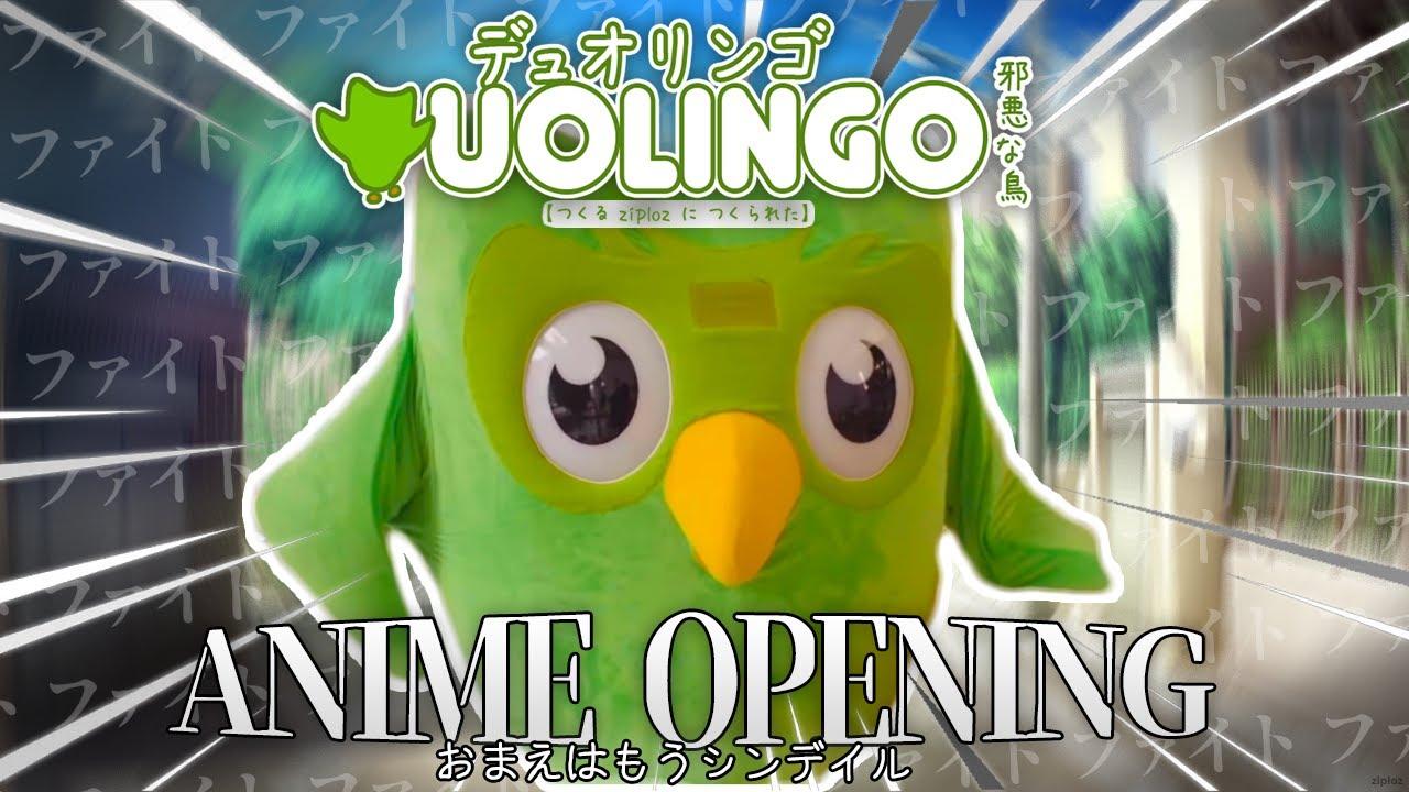Duolingo Bird but it's an Anime Opening
