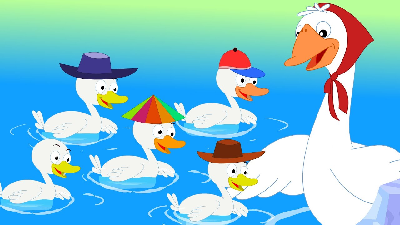 Five Little Ducks Went Swimming One Day   Nursery Rhymes ...