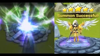 Summoners War: Sky Arena Natural 5* Star Summon ! Wind Archangel !