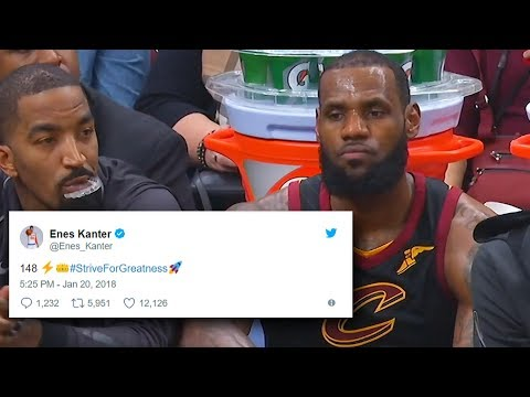 Download Youtube: Enes Kanter TROLLS LeBron James After He Losses to OKC Thunder 148-124