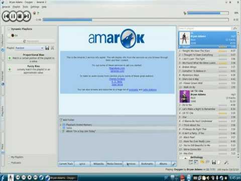 Applets in Amarok 2.1