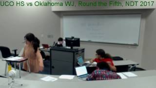 uco hs vs oklahoma wj round the fifth ndt 2017